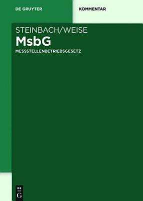 Messstellenbetriebsgesetz PDF