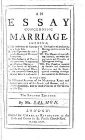 An Essay concerning Marriage ... Second edition