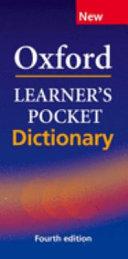 Oxford Learner's Pocket Dictionary (English-Greek / Greek-English)
