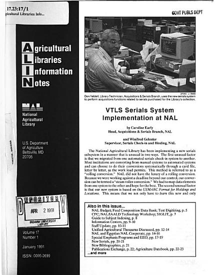 Agricultural Libraries Information Notes PDF