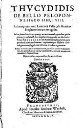 Thucydidis de bello Peloponnesiaco libri VIII