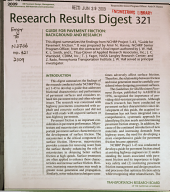 Research Results Digest - National Cooperative Highway Research Program