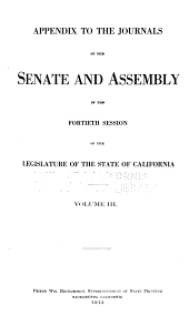 Journals of the Legislature of the State of California: Volume 3, Part 1