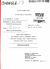 California. Supreme Court. Records and Briefs: S030732, Petition for Review