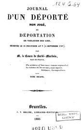 Journal d'un déporté non jugé, ou Déportation en violation des lois: décrétée le 18 fructidor an V (5 sept. 1797).