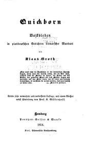 Quickborn: volksleben in plattdeutschen gedichten ditmarscher mundart