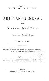Annual Report of the Adjutant-General of the State of New York for the Year ...: Register[s of New York regiments in the war of the rebellion], Issue 2