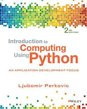 Introduction to Computing Using Python PDF