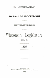 Journal of Proceedings of the Session of the Wisconsin Legislature: Volume 2