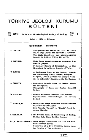 Bulletin of the Geological Society of Turkey PDF