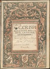 Bella Duo, Catilinarium et Iugurtinum
