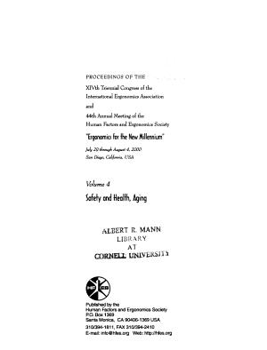 Ergonomics for the New Millennium