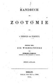 Handbuch der Zootomie: Band 2