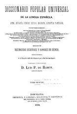Diccionario popular universal de la lengua espa  ola PDF