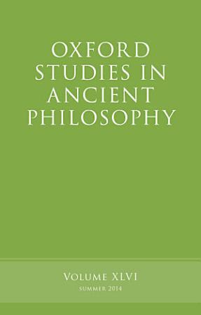 Oxford Studies in Ancient Philosophy PDF