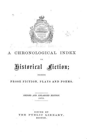 A Chronological Index to Historical Fiction PDF