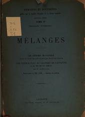 Mélanges: Jean de la Tour-Chatillon, Volume4,Parties1à2