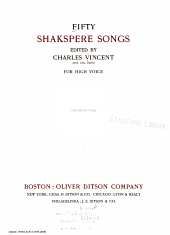 Fifty Shakspere Songs: For high voice.-v.2.For low voice