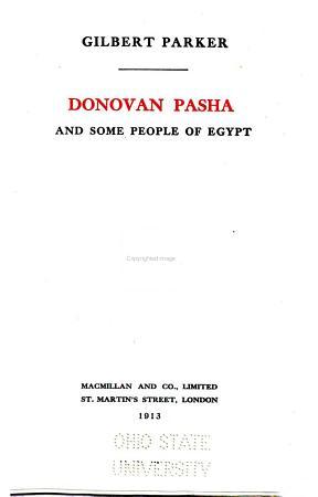 Donovan Pasha and some people of Egypt PDF