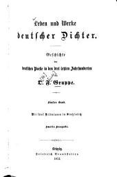 Leben und Werke deutscher Dichter: Geschichte d. dt. Poesie in d. letzten Jahrh, Band 5