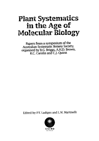 Plant Systematics in the Age of Molecular Biology PDF