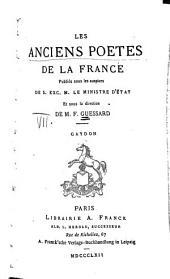 Les anciens poètes de la France: Volume7