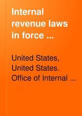 Internal Revenue Laws in Force ...