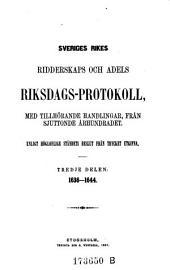 1636 - 1644: Volume 3