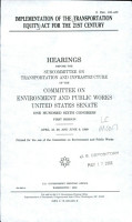 Implementation of the Transportation Equity Act for the 21st Century PDF