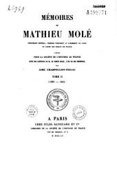 Mémoires de Mathieu Molé, procureur général, premier président au Parlement de Paris et garde des sceaux de France