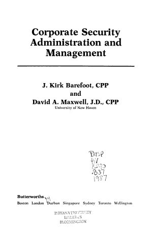 Corporate Security Administration and Management PDF