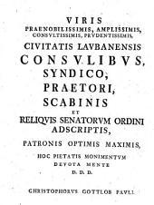 Dissertatio Iuridica De Genuino Privilegiorum Conceptu