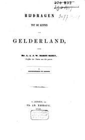 Bijdragen tot de kennis van Gelderland: Volume 1