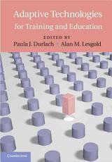 Adaptive Technologies for Training and Education PDF
