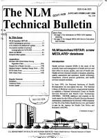 The NLM Technical Bulletin PDF