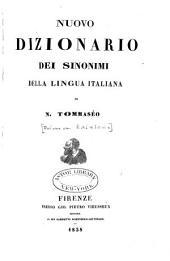 Nuovo dizionario dei sinonimi della lingua italiana