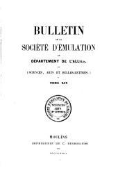 Bulletin de la Société d'émulation du Département de l'Allier: Volume 14