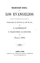 Traducción nueva de los Evangelios: con notas y reflecciones al fin de cada capítulo