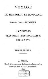 Synopsis plantarum, quas, in itinere ad plagam aequinoctialem orbis novi, collegerunt Al. de Humboldt et Am. Bonpland: Volume 1