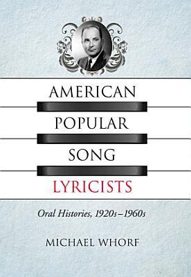 American Popular Song Lyricists