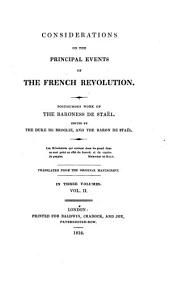 Considerations on the Principal Events of the French Revolution: Volume 2