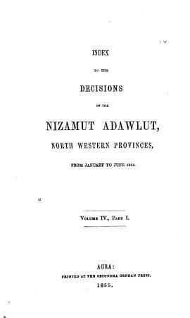 Decisions of the Nizamut Adawlut     PDF
