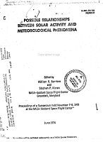 Possible Relationship Between Solar Activity and Meteorological Phenomena PDF