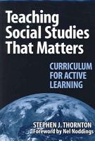 Teaching Social Studies that Matters PDF