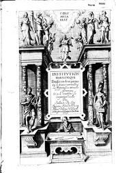 Institution harmonique... Par Salomon De Caus...