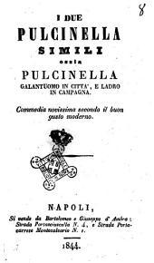 I due Pulcinella simili, ossia Pulcinella galantuomo in città e ladro in campagna commedia novissima secondo il buon gusto moderno