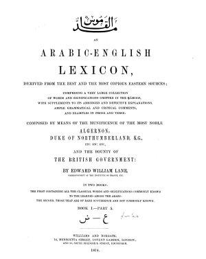 An Arabic English Lexicon PDF