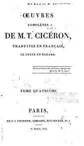 OEuvres completes trad. en Francais, le texte en regard: Volume4