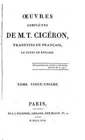 OEuvres completes trad. en Francais, le texte en regard: Volume21
