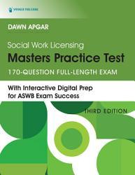 Social Work Licensing Masters Practice Test Book PDF